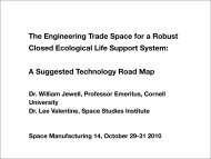 The Engineering Trade Space for a Robust Closed Ecological Life ...