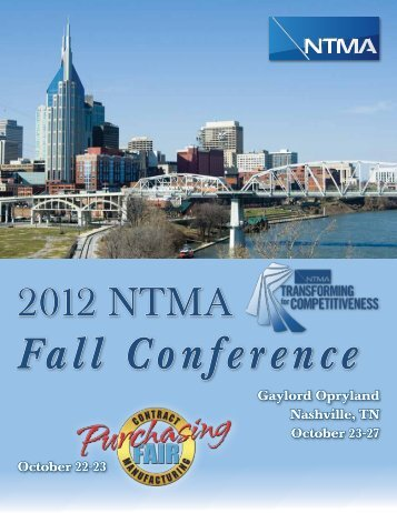 Fall Conference - National Tooling and Machining Association