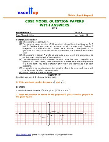 9a cbse model question papers with answers excellup fandeluxe Choice Image