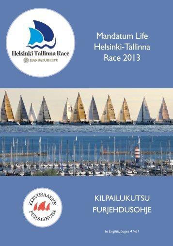 Kutsujulkaisu - Helsinki Tallinna Race