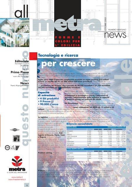 News Architetti N° 21 - Metra SpA