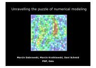 Unravelling the puzzle of numerical modeling