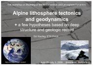 Alpine lithosphere tectonics and geodynamics - ETH Zürich