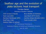 Seafloor age and the evolution of plate tectonic heat ... - ETH Zürich