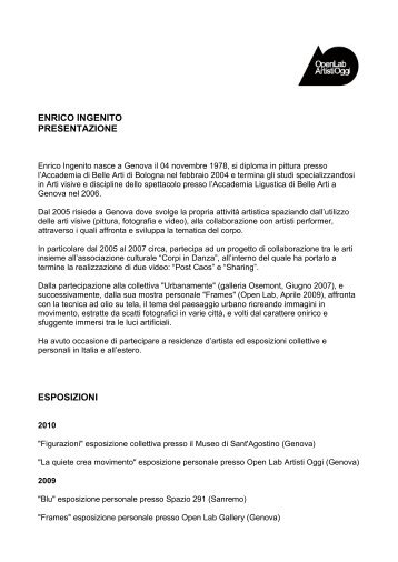 ENRICO INGENITO cv - Openlabgallery.it