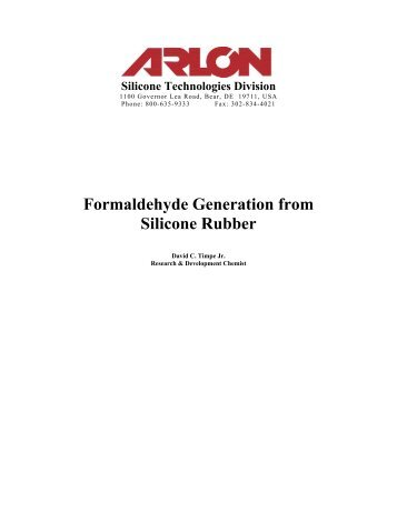 Formaldehyde Generation from Silicone Rubber - Team-Logic