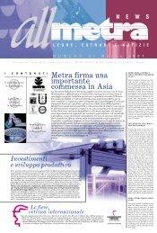 2 3 4 Metra firma una importante commessa in Asia - Metra SpA