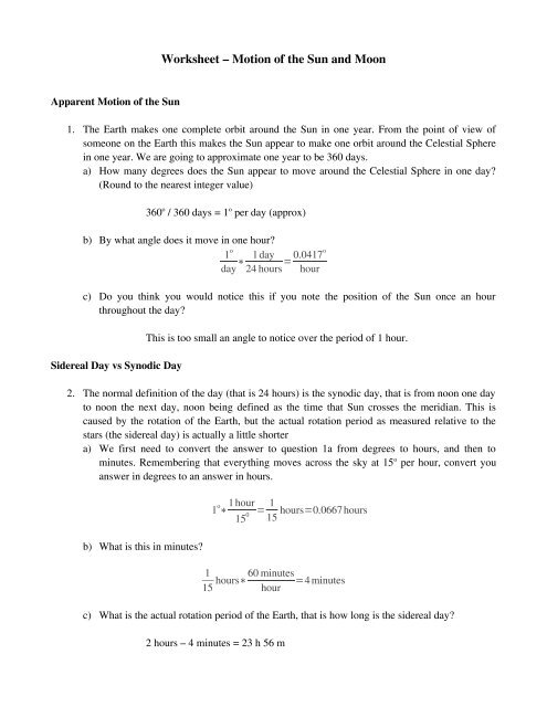 Worksheet – Motion of the Sun and Moon - Physics @ CSU ...