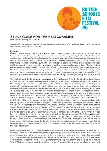 BRITISH SCHOOLS FILM FESTIVAL #5 - AG Kino