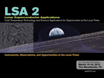 Flyer - International Workshop on Lunar Superconductor Applications