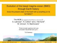 Evolution of the basal magma ocean (BMO) through Earth history ...