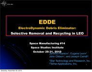 (EDDE) Opens LEO for Aluminum Recovery and Reuse