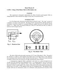 GENERAL PHYSICS II - Physics @ CSU Stanislaus
