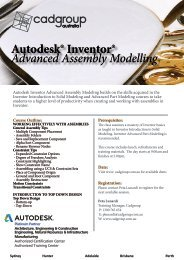 Autodesk® Inventor® Advanced Assembly Modelling - Cadgroup