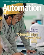 Automation Automation - Metso's automation