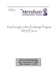 Student Application 2010 - Meridian International Center
