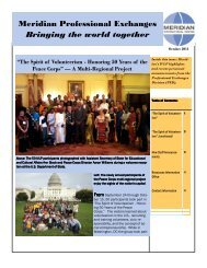 Meridian Professional Exchanges - Meridian International Center