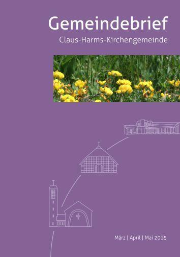 Gemeindebrief März bis Mai 2015