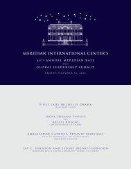 MERIDIAN INTERNATIONAL CENTER'S