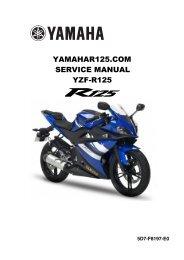 yamaha yzf r125 service manual - Automotivespartsshop.com
