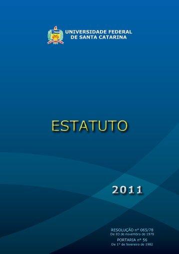 Estatuto - Reitoria - UFSC