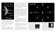 Understanding and Observing the Moon's Phases ... - Calgary Centre