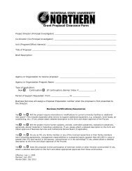 Grant Proposal Clearance Form - Montana State University-Northern
