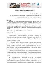 Mercado de trabalho e Geografia - SciELO Proceedings