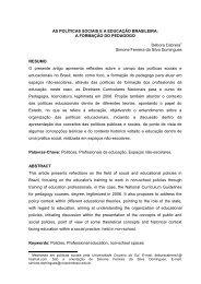 as políticas sociais ea educação brasileira - SciELO Proceedings
