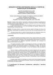 sistemas energticos com gaseificadores - SciELO Proceedings