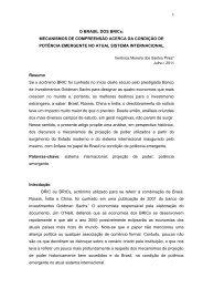O BRASIL DOS BRICs: - SciELO Proceedings