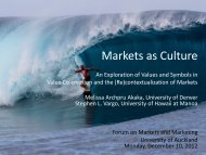 Markets as culture: An exploration of values and symbols in value co