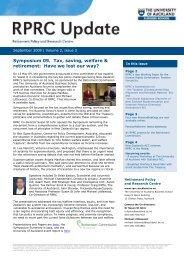 RPRC Update 2009 Volume 2 Issue 3 September