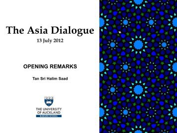 The Asia Dialogue
