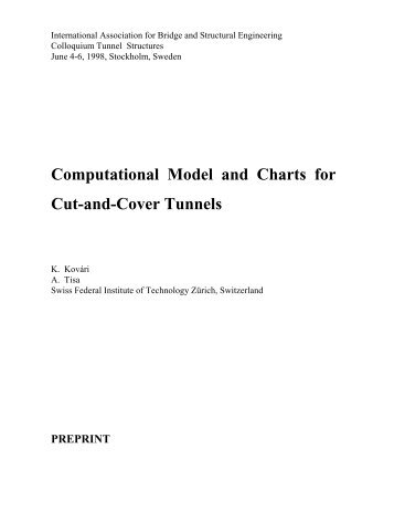 Computational Model and Charts for Cut-and-Cover ... - ETH - IGT