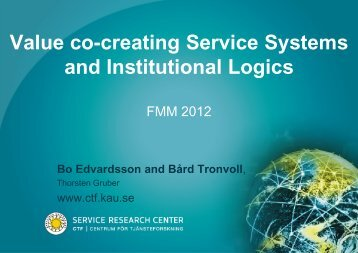 Value co-creating service systems and institutional logics (735KB)