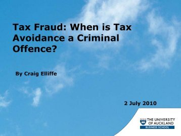 Tax Fraud: When is Tax Avoidance a Criminal Offence?