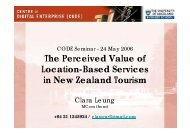 The Perceived Value of Location-Based Services in New Zealand ...