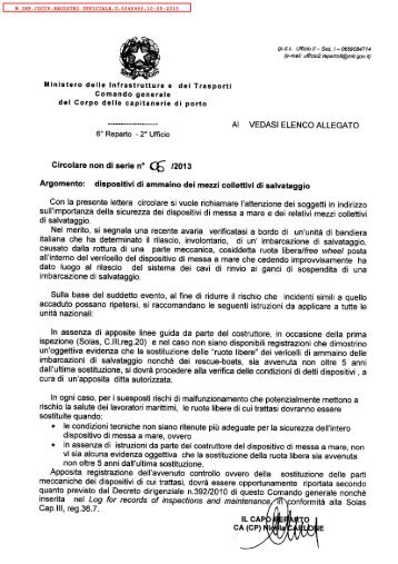 M_INF.CGCCP.REGISTRO UFFICIALE.U ... - Guardia Costiera