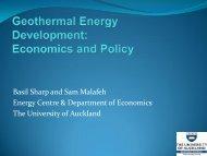 Presentation: Geothermal energy development: Economics and policy