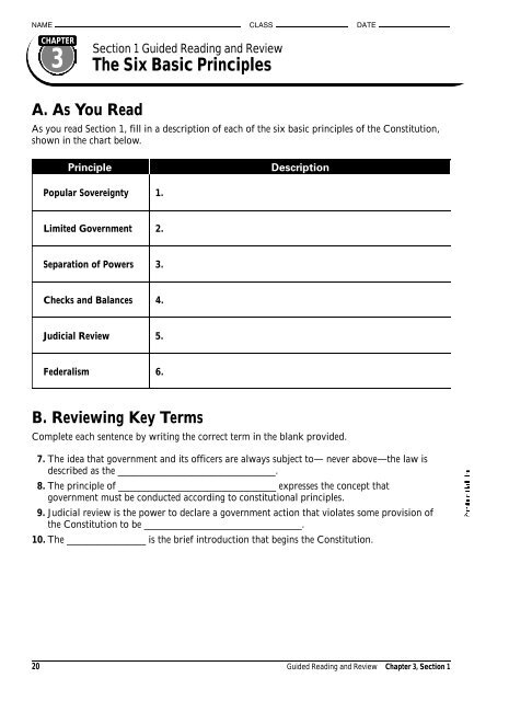 Chapter 3, Section 1: Guided Reading - Analy High School Staff