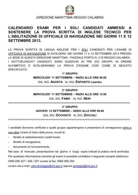 Calendario Esami Titoli Professionali Marittimi.Ammissione E Data Esami Per Ufficiale Di Guardia Costiera