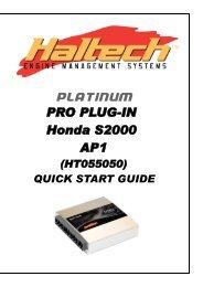 PLATINUM Pro Plug-in Honda S2000 AP1 Quick Start Guide - Haltech