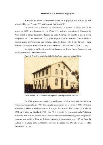 Histórico E - Acervo - Unesc