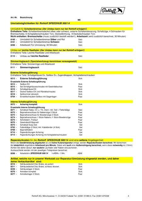 Speedhub Ersatz ROHLOFF Interne Schaltzugführung Achsring Komplett Nr.8572