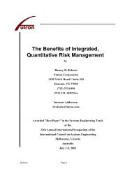 The Benefits of Integrated, Quantitative Risk Management - Futron ...