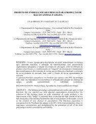 projeto de energia solar e biogás para produção de ração animal e ...