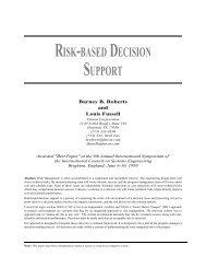 RISK-BASED DECISION SUPPORT - Futron Corporation