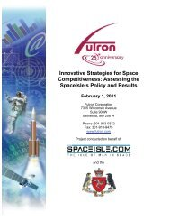 Innovative Strategies for Space Competitiveness - Futron Corporation
