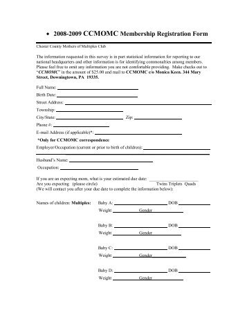 • 2008-2009 CCMOMC Membership Registration Form